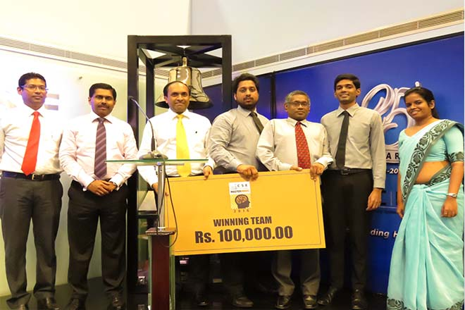 Comm Bank, Dunamis Capital and Aitken Spence win at CSE Masterminds 2016