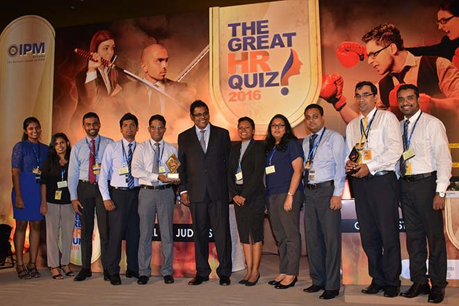CSE shines at the 'Great HR Quiz 2016' organized by IPM
