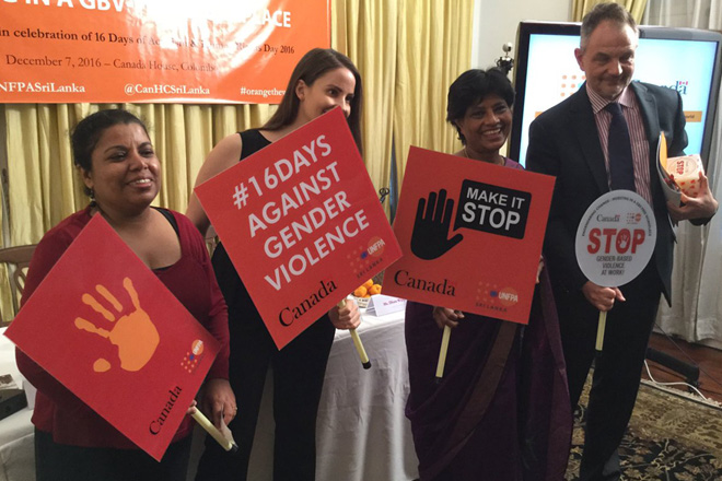 Canada & Sri Lanka join forces to end gender-based violence in workplace