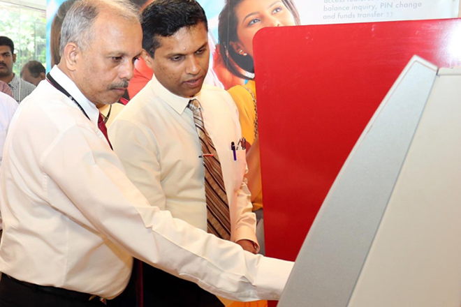 People's Bank unveils 7 self banking centers in Colombo