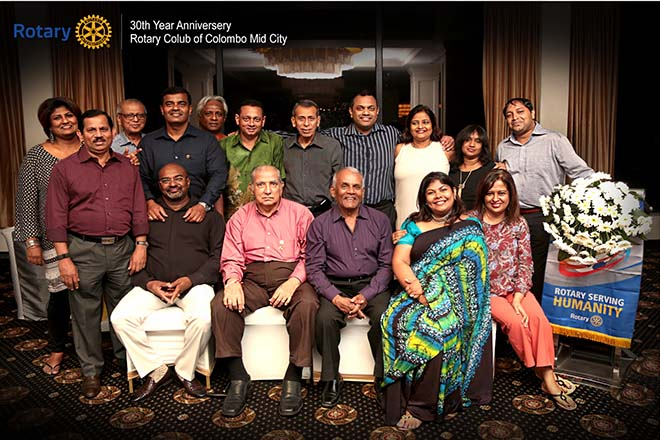 Rotary Club of Colombo Mid City mark 30 years of successful community service