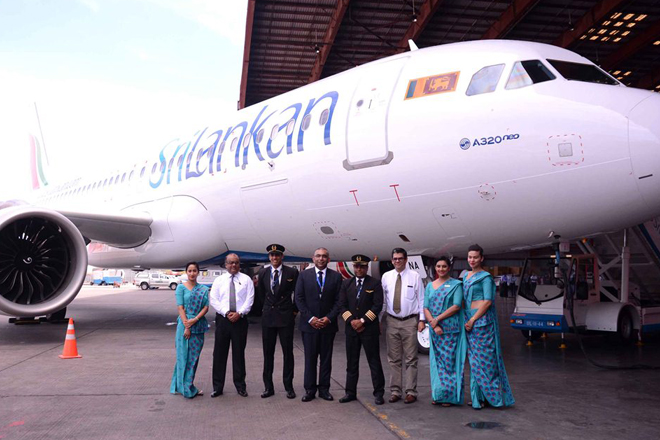 SriLankan Airlines welcomes Airbus A320neo to its fleet