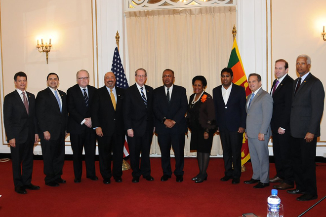 Bipartisan US delegation meets Foreign Minister Samaraweera