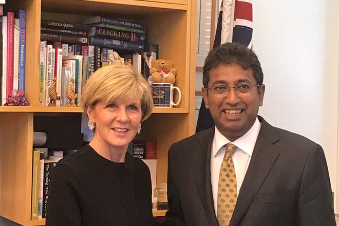 Sri Lanka-Australia discuss security in the Indian Ocean