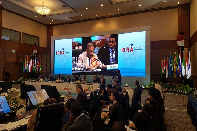 Sri Lanka's Foreign Minister takes part in IORA