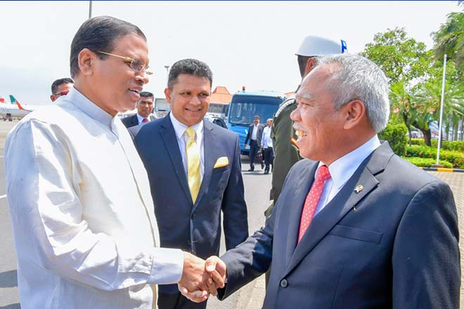 President Sirisena on State Visit to Indonesia
