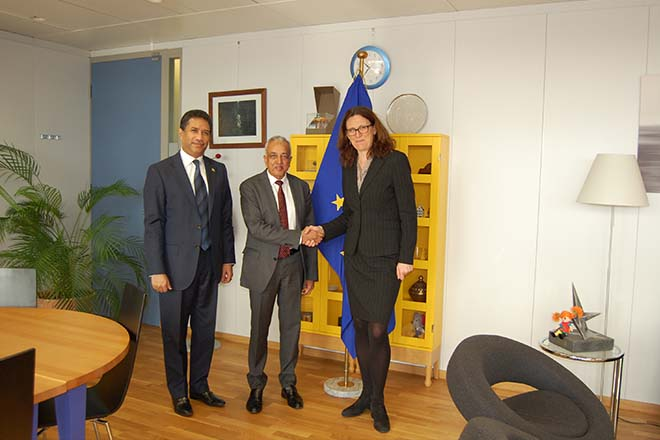 Min Malik Samarawickrama  meets EU Trade Commissioner in Brussels