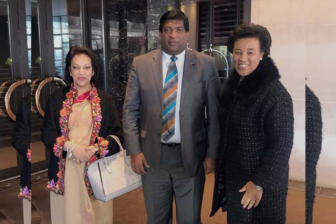 Sri Lanka Finance minister meets Commonwealth Secretary General Patricia Scotland