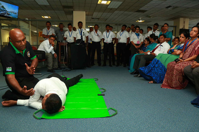 SriLankan Airlines conducts specialized training for staff at BIA