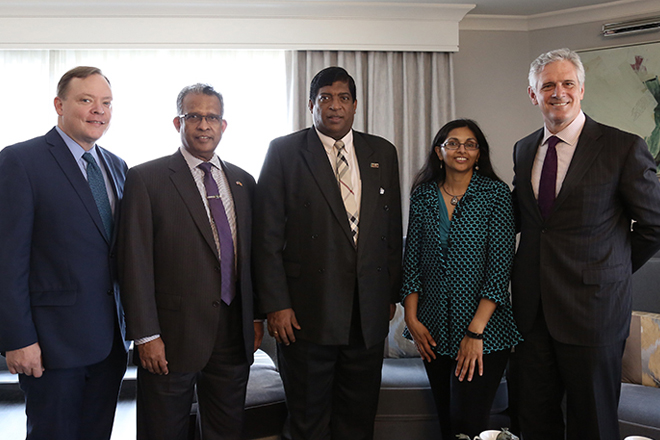 Hilton group officials meet Finance Minister in Washington