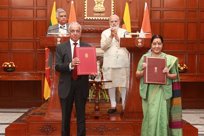 Sri Lanka, India sign MOU to cooperate on economic projects