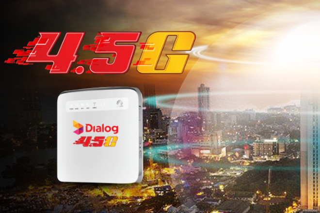 Dialog starts operations of 4.5G LTE home broadband in Colombo