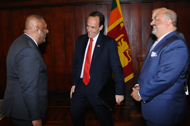 Acting US Asst. Secretary of State calls on Minister Samaraweera