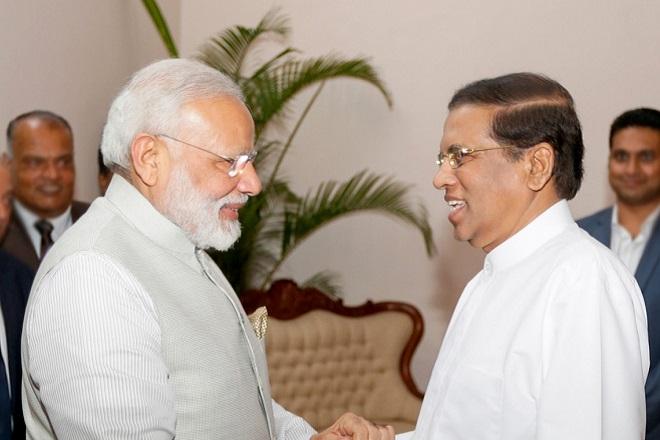 narendra modi maithripala sirisena india