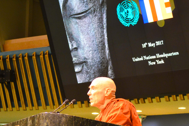 Vesak celebrated at UN Headquarters in New York