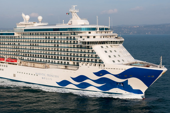 Super luxury Majestic Princess calls at Colombo port