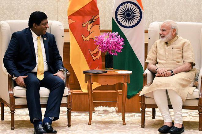 Sri Lanka Foreign Minister Ravi Karunanayake visits India