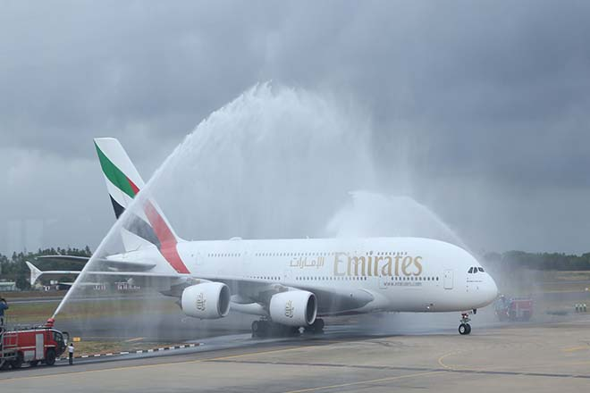Sri Lanka's BIA sees landing of maiden Emirates A380