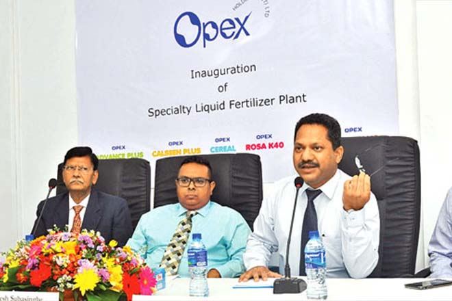 Sri Lanka's Opex Holdings invests Rs550 mln in liquid fertilizer plant