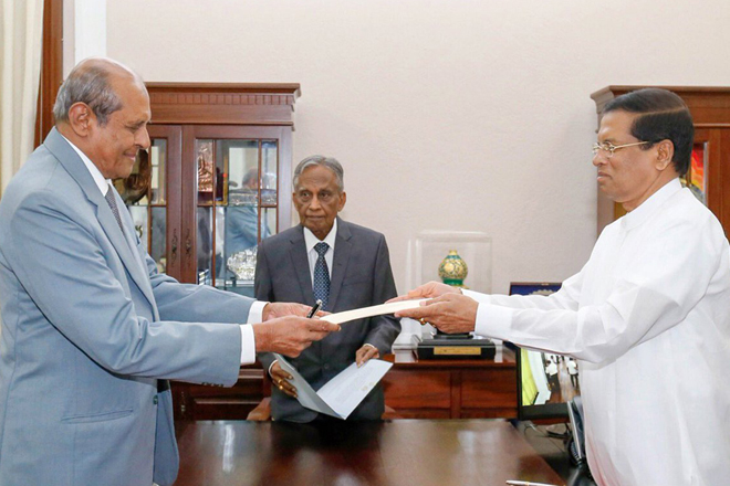 Tilak Marapana sworn in as Sri Lanka's new Foreign Minister