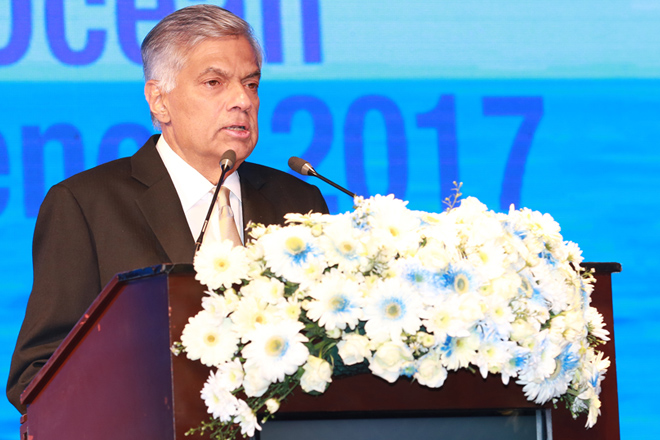 Sri Lanka's PM addresses Indian Ocean Conference 2017