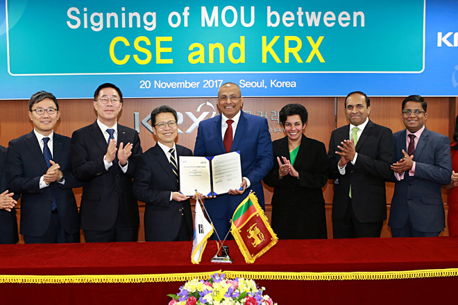 Sri Lanka CSE and Korea Exchange agree to pursue mutual development