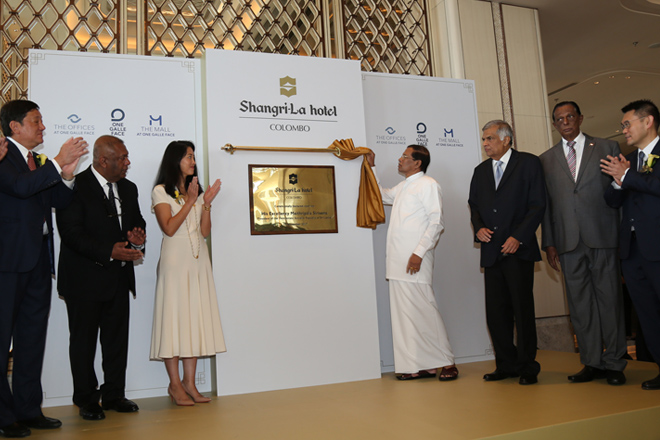 Shangri-La Hotel Colombo declared open by President & PM