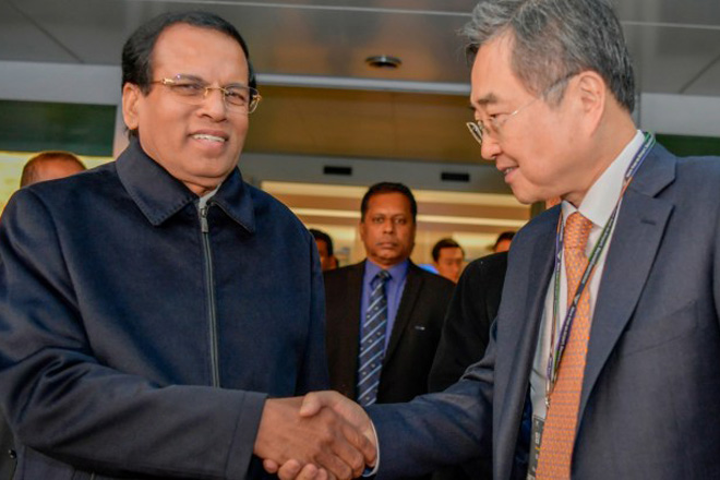 Sri Lanka's President arrives in Seoul for 3-day state visit to South Korea