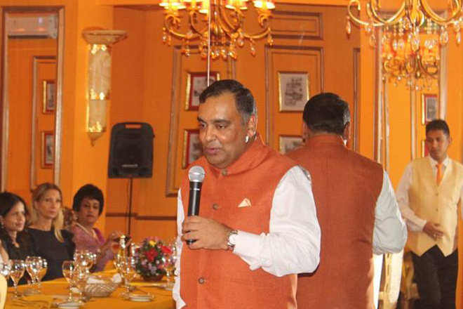 Dinner event with Y.K. Sinha, the Indian High Commissioner