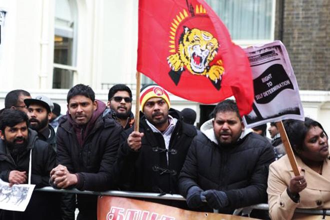 Image result for london ltte protest