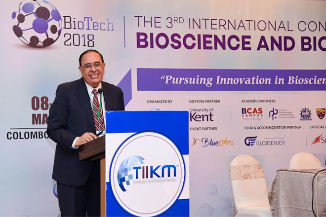 Chemistry Guru in Sri Lanka for Int. Conference on Bio science 2018