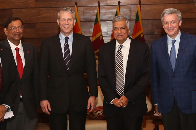 Coca-Cola CEO meets Prime Minister in Sri Lanka