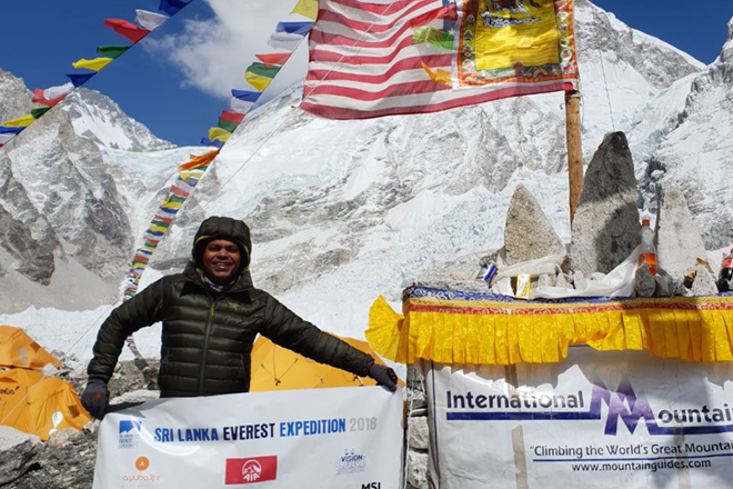 Johann encounters high altitude on 1st leg of his mission to scale Mt. Everest