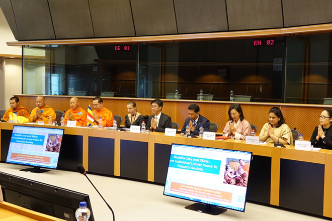Vesak celebrated in the European Parliament for the first time