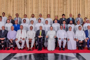 Sri Lanka's new Cabinet of Ministers sworn in