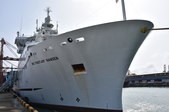 Nansen Vessel arrives in Colombo to conduct survey on marine resources