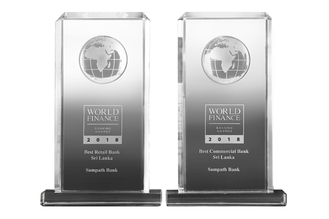 World Finance Banking Awards recognize Sampath Bank as Best Retail and Commercial Bank