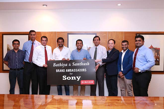 Bathiya and Santhush appointed brand ambassadors for Sony audio products in Sri Lanka