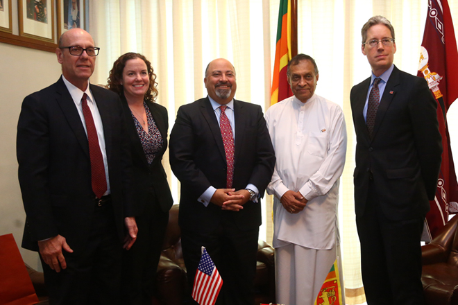 Outgoing US ambassador to Sri Lanka meets Speaker Karu Jayasuriya