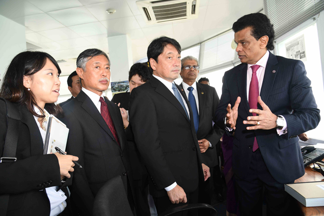 Japanese Defense Minister commends recent progress of Colombo Port