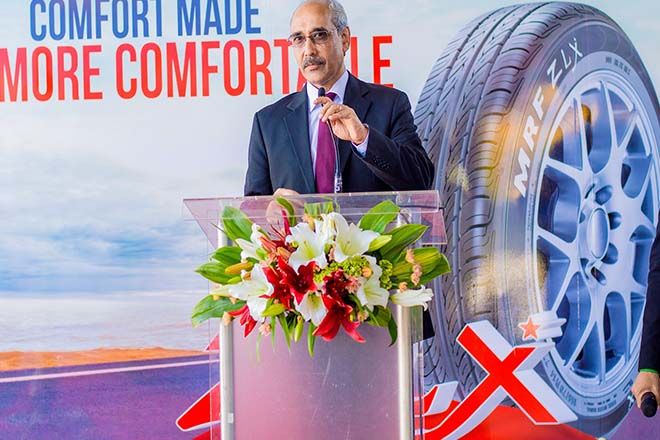 MRF launch's tyre and service centre in Sri Lanka
