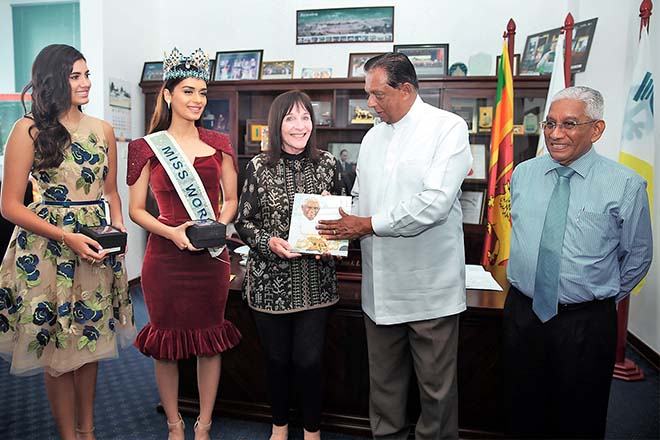 Reigning Miss World visits Sri Lanka