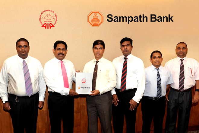 AIA Insurance partners with Sampath Bank to facilitate premium payments