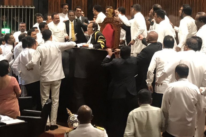 Sri Lanka Parliament adjourns till tomorrow; political crisis turns into a deadlock