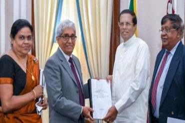 Expert Committee hands over report on Singapore-Sri Lanka FTA to President