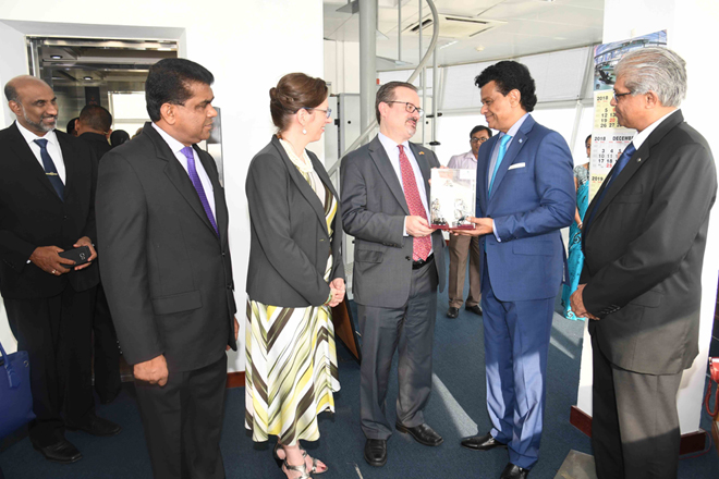 High profile US delegation visits Sri Lanka's Port of Colombo