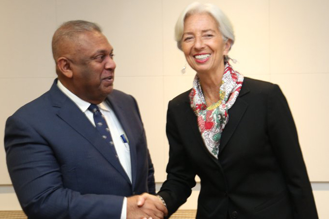 Finance Minister meets IMF Managing Director in Washington