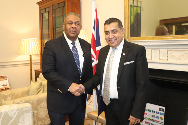 Finance Minister calls on UK's Minister of State for Commonwealth and UN