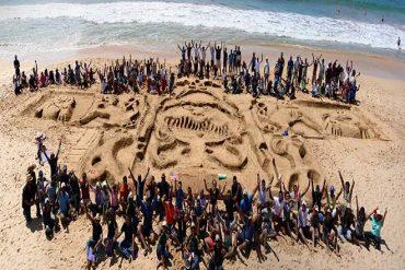 Fortude and Sandbox create Sri Lanka's largest sand sculpture on record