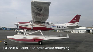 Sri Lanka to offer whale watching services from Cessna206H
